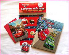 DISNEY PIXAR CARS - Storybook & GIFT PACK - Book Wrap Card & Tag Set - LIGHTNING