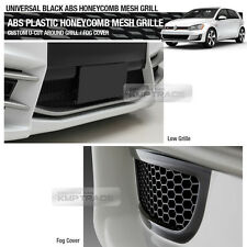 "5_Black Honeycomb Hexagon Mesh ABS Grille Custom DIY Kit 42""x15"" For All Vehicle"