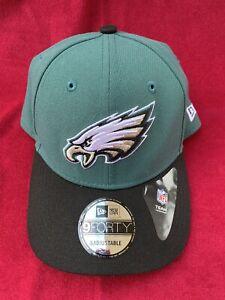 Philadelphia Eagles NFL New Era Trucker 9FORTY Adjustable Hat-Green/Black NEW