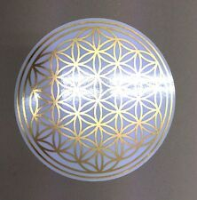 Blume des Lebens - Gold Metallic Aufkleber 18 cm - ablösbar