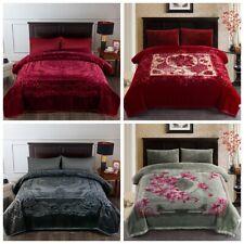 Embossed Luxury Mink Blanket Korean Fleece Plush Blanket 85'x95' 9Lb