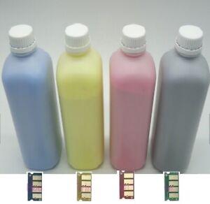 4 PACK TONER REFILL FOR DELL C2660, C2660dn, C2665, C2665dnf (C-Y-M-K) + 4 CHIPS
