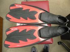 Bare Fastback Scuba Snorkeling Fins Red Black Size L 9-11 43-44