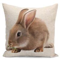 Cat Pug Pattern Animal Pattern Linen Cushion Throw Pillow Cover Case Decora Fill
