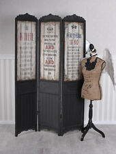 Paravent Holz Raumteiler Trennwand 3tlg Umkleide Antik Raumtrenner Vintage Wand