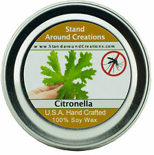 Premium 100% All Natural Soy Wax Candle - 2 oz Tin - Citronella
