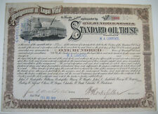 JOHN ARCHIBOLD & WILLIAM ROCKEFELLER SIGNED STANDARD OIL TRUST STOCK CERTIFICATE
