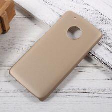 Rubberized Hard Back Case Cover For Motorola Moto G5 Plus G5+ Gold