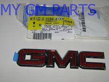 "YUKON TAILGATE LIFT GATE  RED/CHROME ""GMC"" EMBLEM 1998-2006 NEW OEM 22884137"