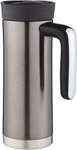 20oz Stainless Steel Travel Mug with Handle Tumbler Thermos Insulated Coffee Hot