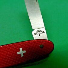 Victorinox / Elinox 84mm Popular Swiss Army Knife in Red Alox with old cross