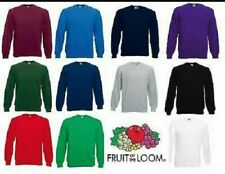 Fruit of the Loom Mens Raglan Sweatshirt Sweater Jumper Brand New Lightweight