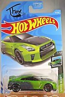 2019 Hot Wheels #61 Speed Blur 7/10 '17 NISSAN GT-R [R35] - GUACZILLA FOX Green