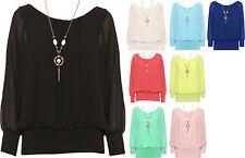 Damenblusen, - tops & -shirts mit Fledermausärmeln aus Viskose