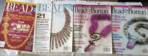 BEAD & BUTTON MAGAZINE X 4 VARIOUS ISSUES FROM 2003/2004/2008/2009