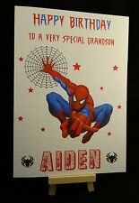 Personalised Handmade Spider Man Birthday Card - Grandson, Son, Brother, Cousin
