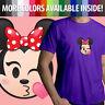 Minnie Mouse Kissy Face Kiss Wink Disney Emoji Unisex Mens Women Tee T-Shirt