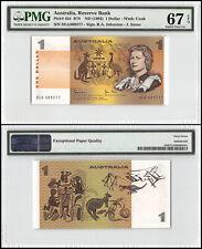 Australia 1 Dollar, ND 1983, P-42d, UNC, Cook, PMG 67 EPQ