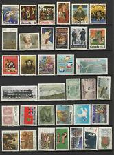 Canada années 60-80 un lot de 35 timbres oblitérés /TR9999zt