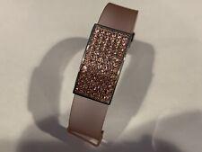 Swarovski Swan Pave crystal Pink Jelly bracelet band Rectangle Crystal Face