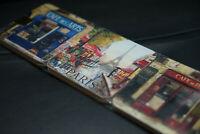 (BRAND NEW) PARIS / FRANCE Drink Coasters x 6 - Vintage / Antique / Coffee Tea