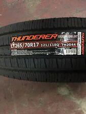 4 NEW 265/70R17  Thunderer Commercial LT Tires 10 PLY 2657017 70R17 Mud Tires