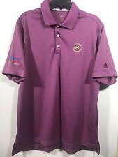 Men's Addidas Clima Lite Dri-Fit Golf Polo Short Sleeve Shirt Purple Size L-D124