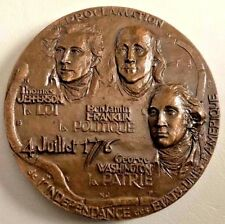 1976 PROCLAMATION INDEPENDENCE WASHINGTON BRONZE MEDAL / 14 ounces 85 mm / N149