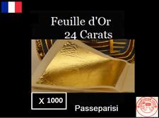 1000 feuilles d' Or 24 K Carats Veritable / Gold Leaf