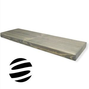 Floating Wall Wood Shelves. Rustic Style. Grey. Various Length And Width.