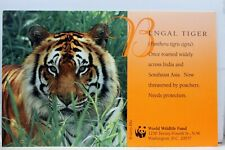 Animal Bengal Tiger World Wildlife Fund Postcard Old Vintage Card View Standard