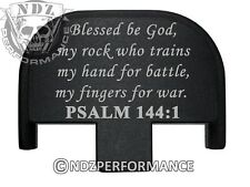 Rear Slide Plate for Smith Wesson S&W SD9 SD40 VE 9mm 40 BK Bible Psalm 144:1