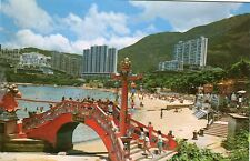 China Hong Kong Hongkong - Repulse Bay old continental size chrome postcard