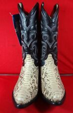 New Men'S Real Python Snake Skin Genuine Leather Cowboy Boots Rodeo Western C95