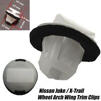 20x FRONT REAR WHEEL ARCH WING BUMPER MOULDING TRIM CLIPS FOR NISSAN JUKE XTRAIL