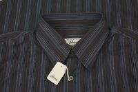 Brioni NEW WITH TAGS Multicolor Striped 100% Cotton Long Sleeve Shirt Sz L