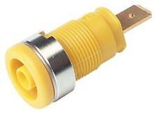 Hirschmann Test & Measurement, Yellow 4mm Banana Plug, Gold Plated, 1000 V ac/dc