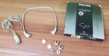 Original Philips De Luxe Earphones 134 Ohrhörer Kopfhörer 4-Pin Din Diktiergerät