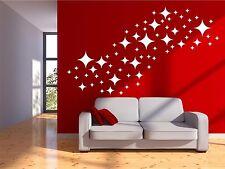 Star Wall Decals - Retro Stars Vinyl Wall Decals, Confetti Diamond Stars ABST3