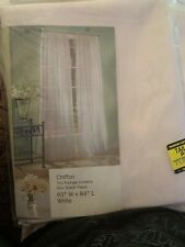 White chiffon curtains (3 Panels Total)