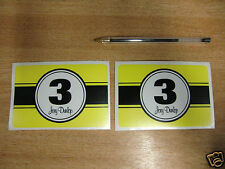 "2x Joey Dunlop Numéro 3 stickers / autocollants Grand 4.5 ""x3"""