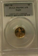 2007-W ~~ US Mint ~~ PCGS PR69DCAM AMERICAN GOLD EAGLE ~~ $5 GOLD PROOF
