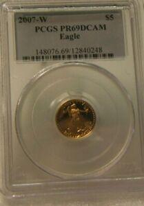 2007-W ~~ US Mint ~~ PCGS PR69DCAM AMERICAN GOLD EAGLE ~~ $5 GOLD PROOF