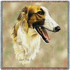 Lap Square Blanket - Borzoi by Robert May 1185