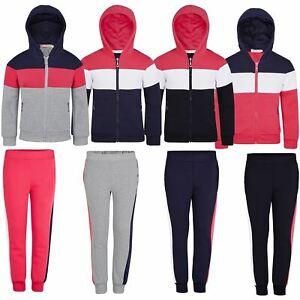 Kids Hoodie or Trousers Playful Inner Fleece Girls Outfit Zip Fastening 3-14 Y