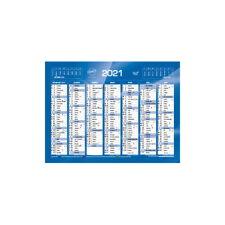 Calendrier  2021 - 14 Mois - 18 x 13.5 cm - Couleur Bleu