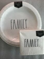 Rae Dunn Luncheon Plates And Napkins - Paper