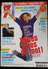 Télé 7 Jours 1/6/2002; Flavie Flament/ Michèle Mercier/ Moby/ Shirley et Dino