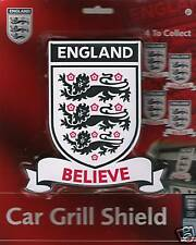 3 LIONS ENGLAND CAR BADGE - BELIEVE- FOOTBALL/CRICKET/RUGBY - SUPPORT ENGLAND!
