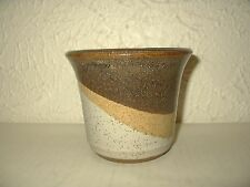 Vintage planter SDW Stoneware Design West Calif pottery Mid Century abstract HTF